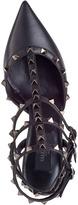 Valentino Noir Rockstud Pump Black Leather