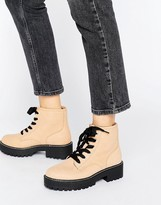 Pull&Bear Chunky Lace Up Work Boots