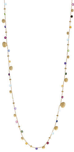 Marco Bicego Paradise Graduated Long Necklace with Mixed Gemstones