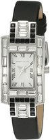 Kenneth Jay Lane Women's KJLANE-4801 Deco Analog Display Japanese Quartz Black Watch