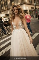 Women's Berta Embellished Plunging V-Neck Tulle Gown