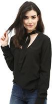 Bella Dahl Neck Tie Shirt in Black