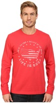 Life is Good Land Of The Free USA Map Long Sleeve Crusher Tee