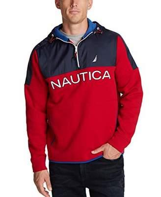 Nautica Men's Nautex Classic Fit Quarter-Zip Fleece Hoodie