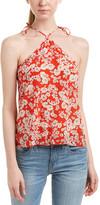 Rebecca Taylor Cherry Blossom Silk Tank