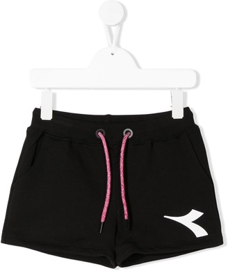 Diadora Junior logo-print track shorts