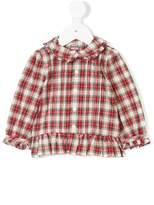 Ralph Lauren tartan frill trim shirt