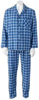 Hanes Men's Ultimate Plaid Flannel Pajama Set