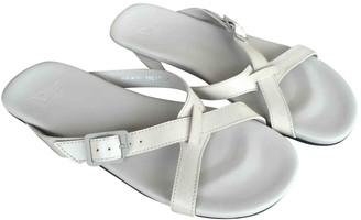 Christian Dior Ecru Leather Sandals