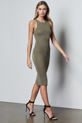 Good American The Body Sculpted Midi Dress | Sage001