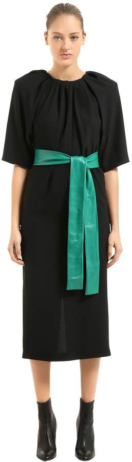Maison Margiela Cady Dress With Leather Belt