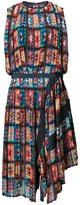 Sacai printed day dress - women - Cupro - 1