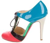 Christian Louboutin Patent Leather Round-Toe Booties