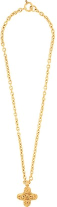 Chanel Pre Owned 1994 Cross Pendant Long Necklace