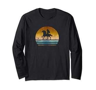 Girl Riding Unicorn Horse Vintage Long Sleeve T-Shirt