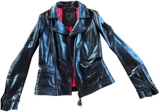 HTC Black Leather Leather Jacket for Women