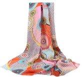 Fashion Women Long Soft Wrap Ninasill scarf (Orange)