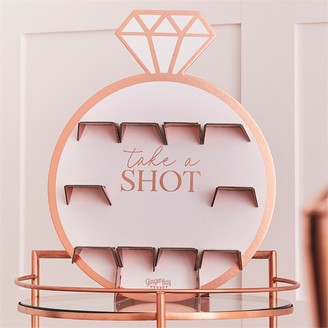 Ginger Ray Blush Hen Party Rose Gold Ring Shot Wall