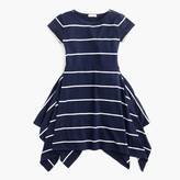J.Crew Girls' short-sleeve striped handkerchief dress