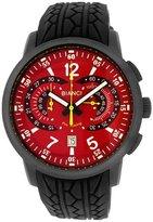 Roberto Bianci Men's 7096mrub-gun_red Pro Racing Analog Display Analog Quartz Black Watch