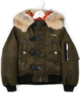 DSQUARED2 fur trimmed hooded jacket