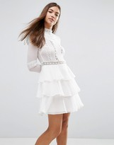 Asos Victoriana Dress with Tiered Hem