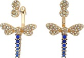 Betsey Johnson Spring Ahead Dragonfly Front/Back Earrings