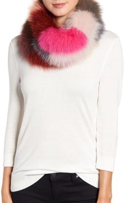 La Fiorentina Stripe Genuine Fox Fur Infinity Scarf