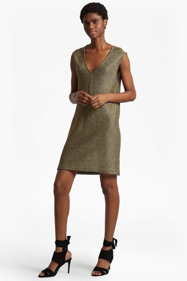 French Connection Leah Metallic Sleeveless Tunic Dress