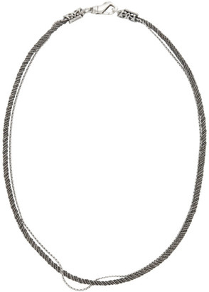 Emanuele Bicocchi Silver Rope Necklace