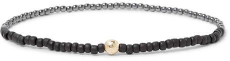 Luis Morais Glass And 14-Karat Gold Bracelet