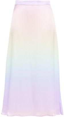 Olivia Rubin Penelope Degrade Silk-satin Midi Skirt