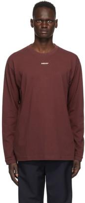 Ambush Burgundy XL Logo Long Sleeve T-Shirt