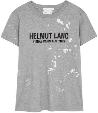 Helmut Lang Baby Painter Grey Logo Cotton T-shirt