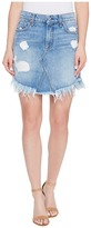 7 For All Mankind Mini Skirt w/ Scallop Raw Hem Destroy Women's Skirt