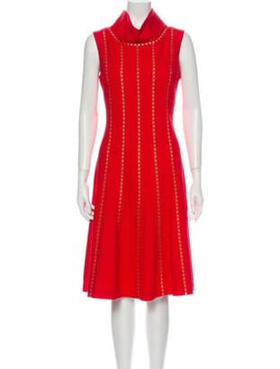 Oscar de la Renta 2013 Midi Length Dress Wool
