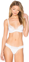 Hanky Panky Eyelet Triangle Bralette in White