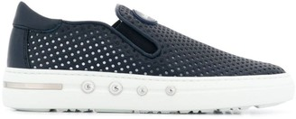 Baldinini Perforated Detail Slip-On Trainers