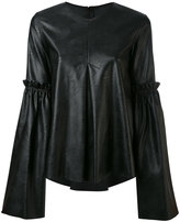 MM6 MAISON MARGIELA faux leather top - women - Polyurethane/Viscose - 38
