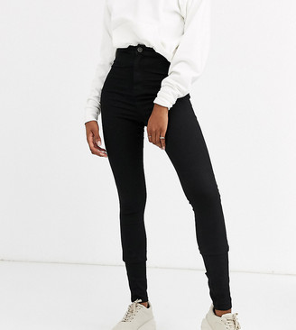 Noisy May Tall high waist jeggings in black