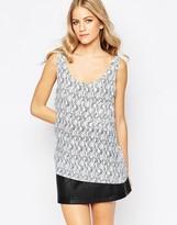 Just Female Grape Shirt with White Flint Brush Print
