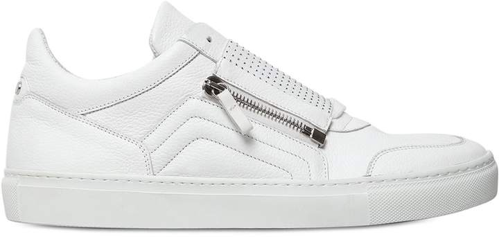 D-S!de Micro Studded Leather Slip-On Sneakers