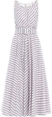Gül Hürgel Belted Striped Cotton-gauze Midi Dress