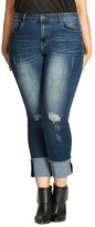 City Chic Cropped Cuffed Jeans
