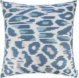 Les Ottomans - Silk Ikat Cushion - 60x60cm - Blue/White Pattern