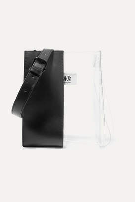 MM6 MAISON MARGIELA Leather And Pu Shoulder Bag - Black