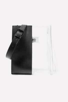MM6 MAISON MARGIELA Leather And Pu Shoulder Bag - Black