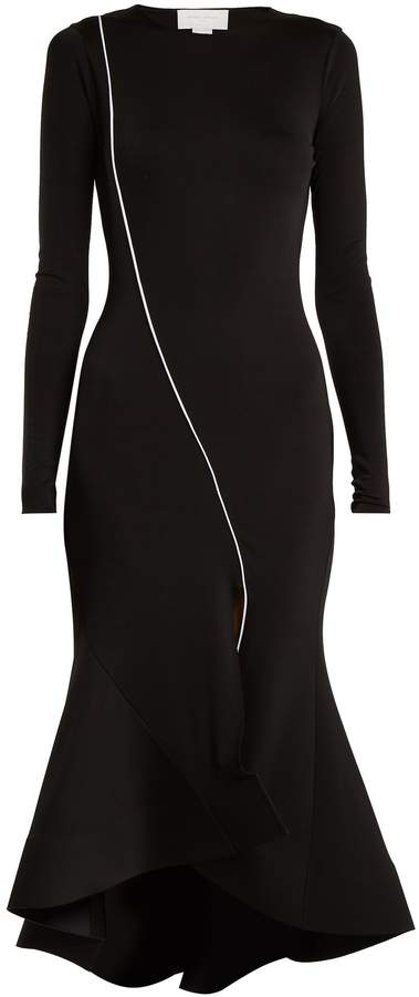 Esteban Cortazar Fluted-panel jersey midi dress