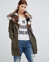 Urban Code Urbancode Parka With Patchwork Faux Fur Hood