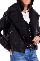 Free People Women's Halen Faux Leather Moto Jacket